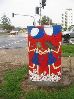 Painted Traffic light control boxes