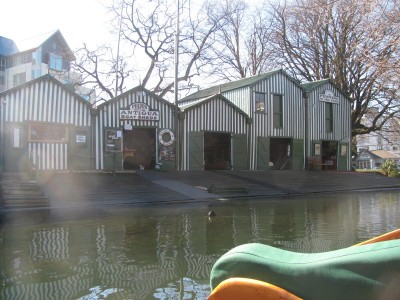 Christchurch punting sheds