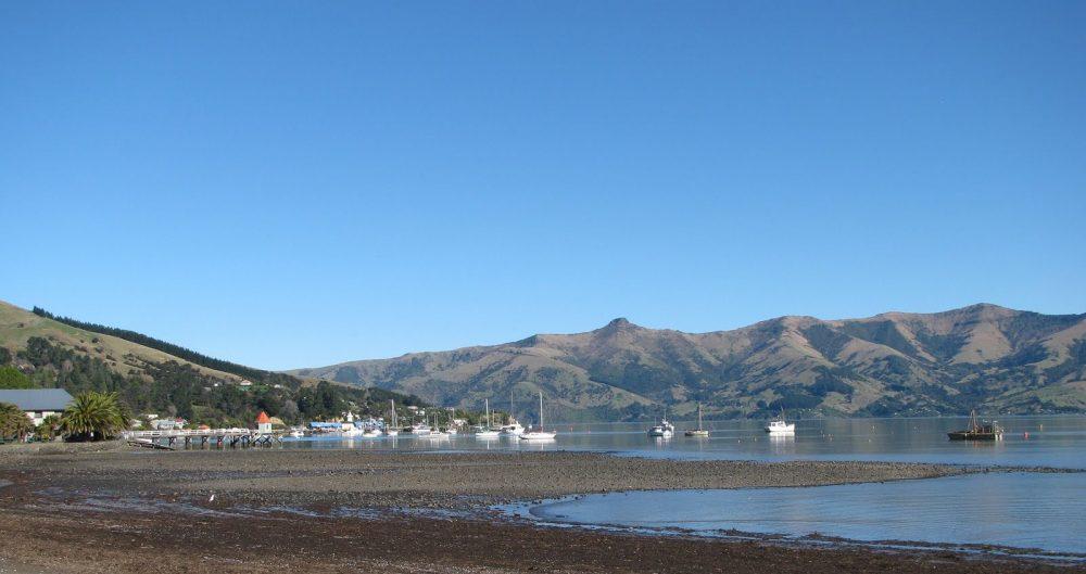 Akaroa bay New Zealand