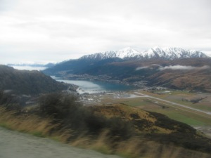 Panaromic view over Queenstown