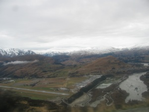 Snow capped peaks of the Remarkable mountains in New Zealand