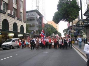 Hurra for Norge... Syttende Mai in the antipodes...17th May parade and feast