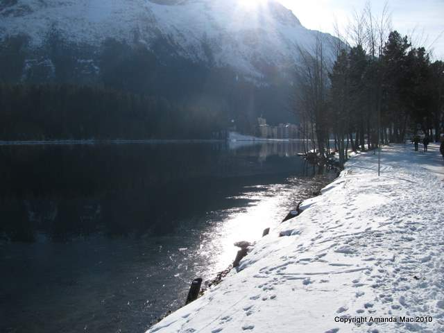 Light on snow at St. Moritz, Switzerland