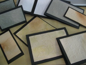 Vintage Embossed Cards and Scrapbook backgrounds-DIY Tutorial