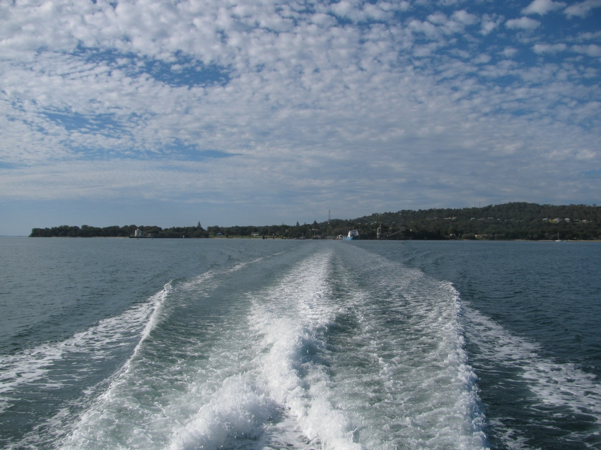 Heading away from Stradbroke Island