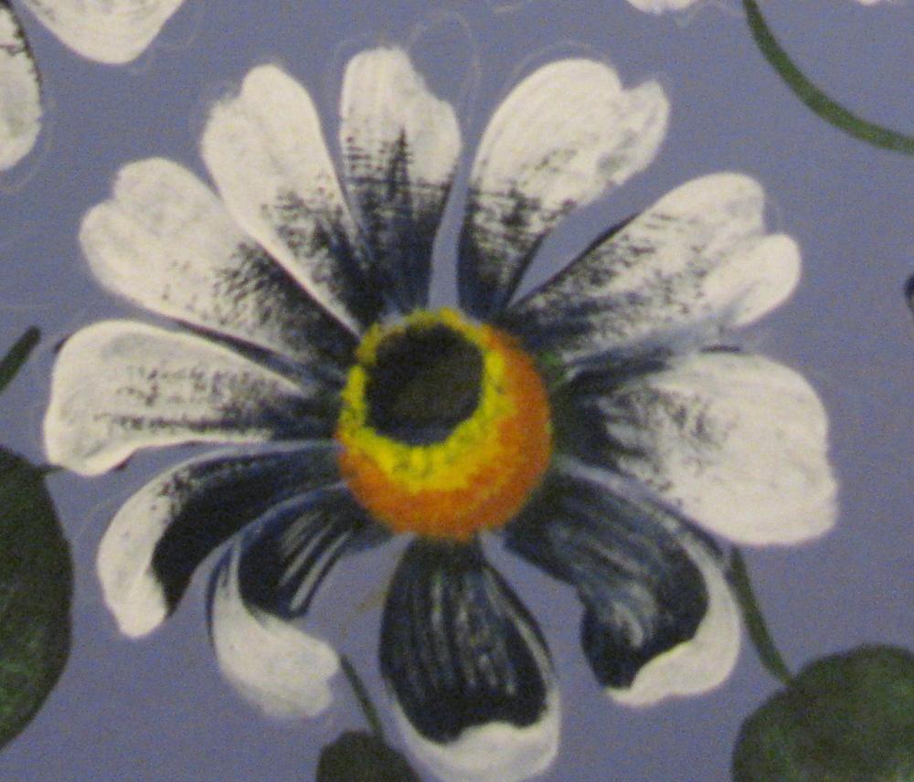 Hand Painted Flower - DIY  Dry Brush / OverlayTechnique- Free Pattern (3/6)