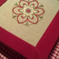 Embroidery -  Inpire me Monday project with mitred corner border