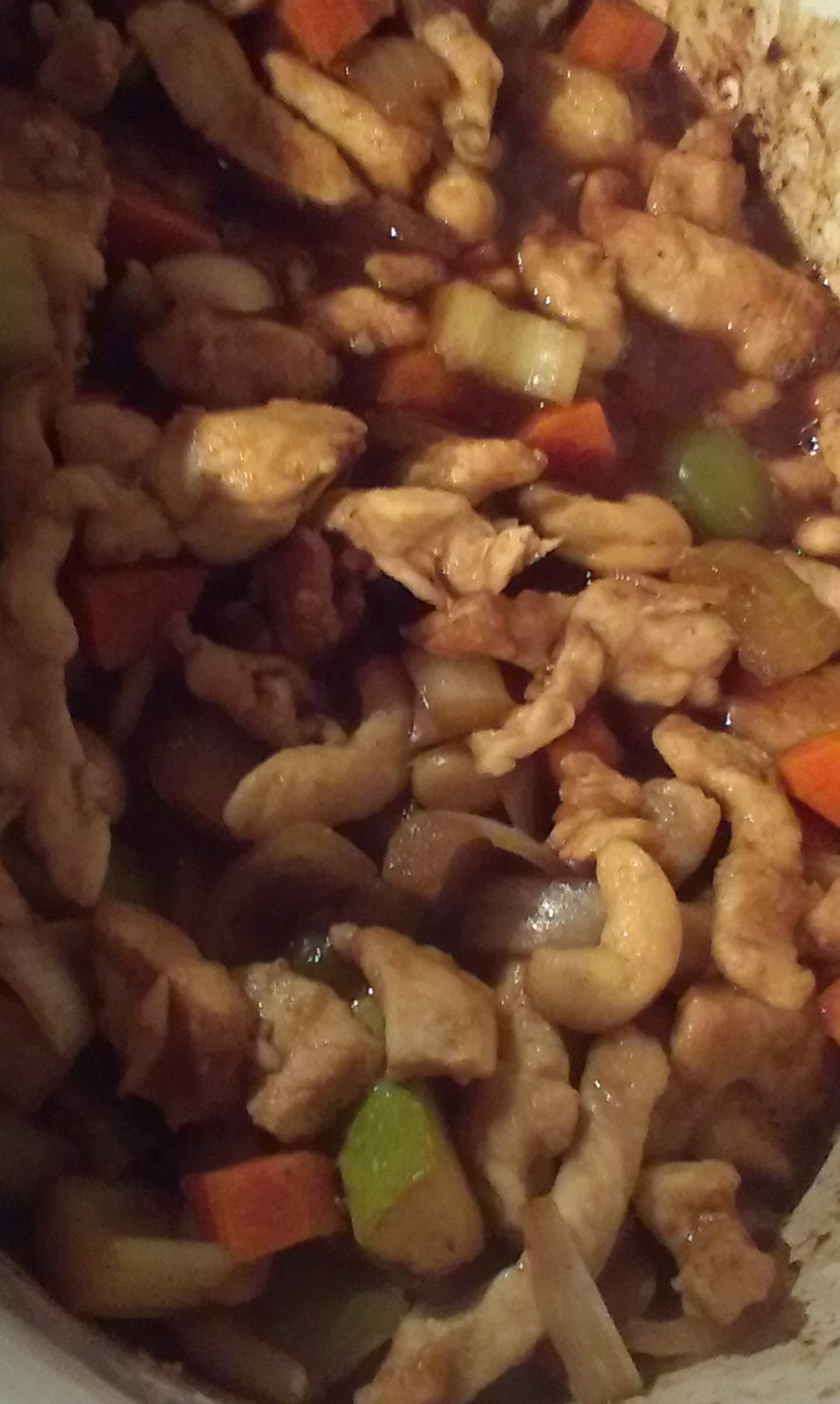 Slow cooker Chicken with Cashew nuts
