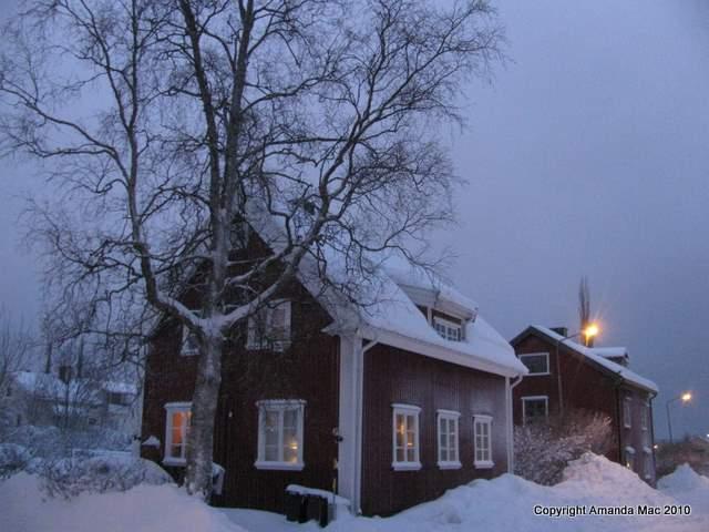 snow cottage sweden sverige skellefteaa