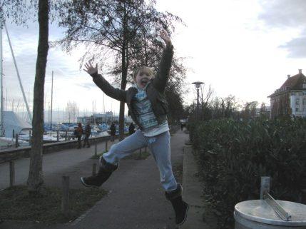 jump joy happy