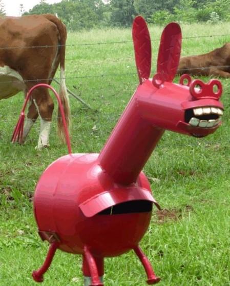 mailbox donkey