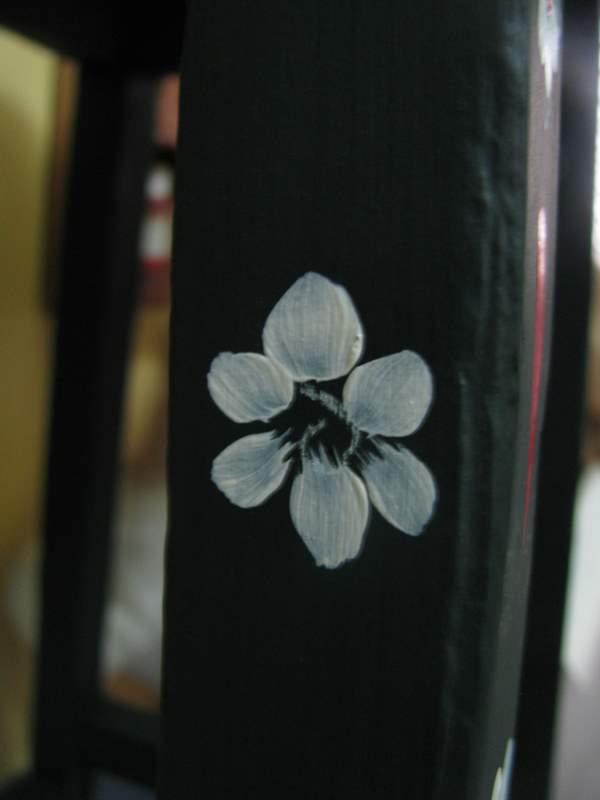 folk art painted flower