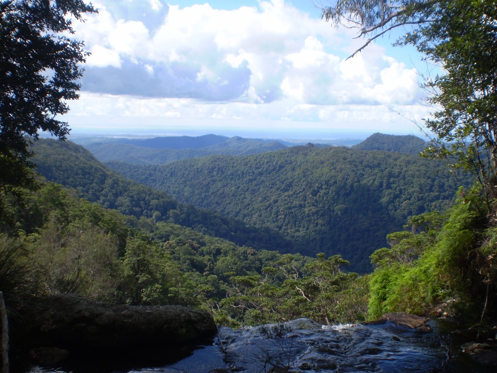 View from Springbrook out to the Gold Coast
