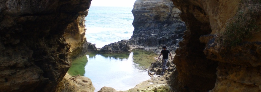 grotto at the sea