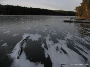 frozen lake sweden