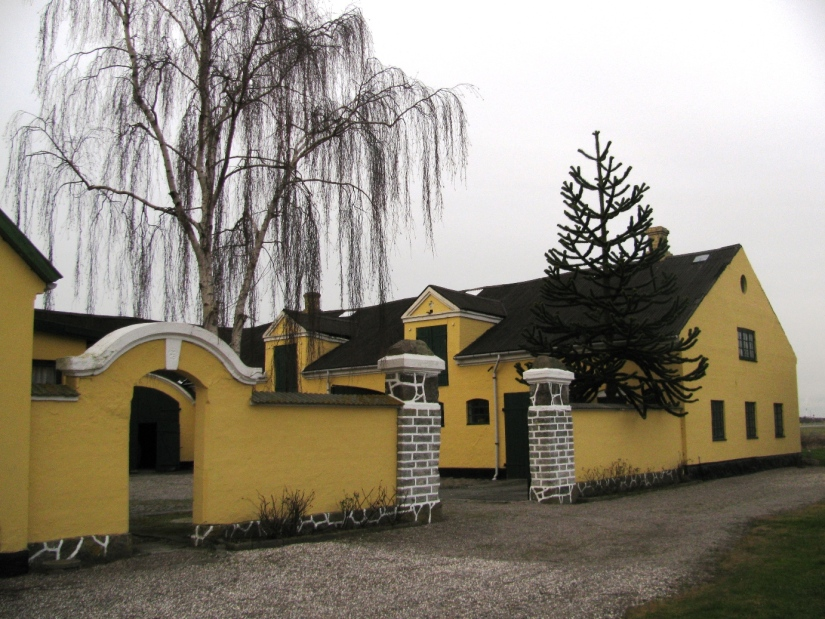 Yellow house in Denmark