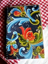 M Norwegian painting upcycled into a notebook