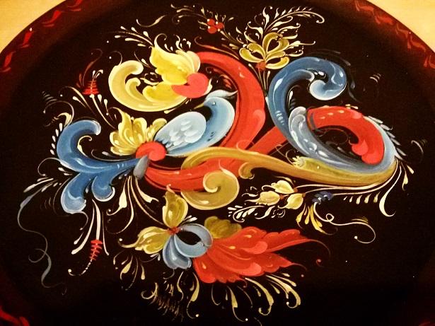 Rosemaling with bird
