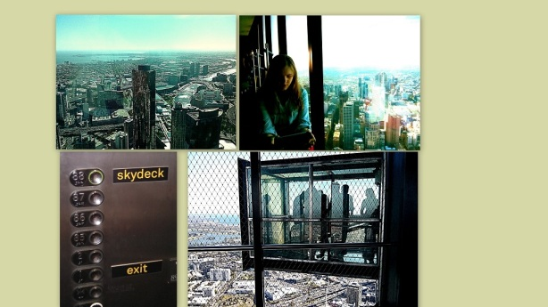 """The Eureka Skydeck and """"The Edge"""" glass cube. Sunny weather continues"""
