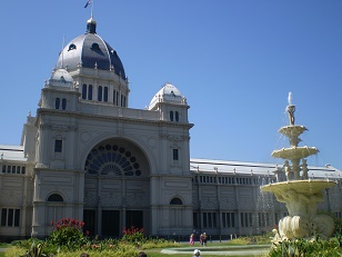 1880 Fountain at Queen Victoria Exhibition Building  (Blue sky again!)