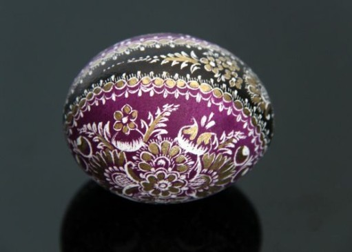 Hand painted egg from Opole