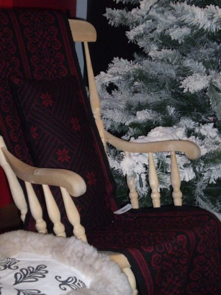 weaving rocking chair christmas