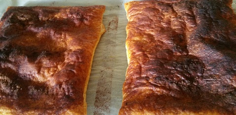 Cooked pastry sheets