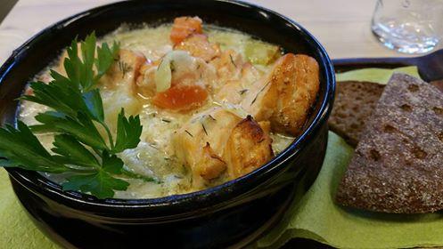 salmon soup in helsinki