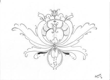Rosemaling and Art Coloring in Designs