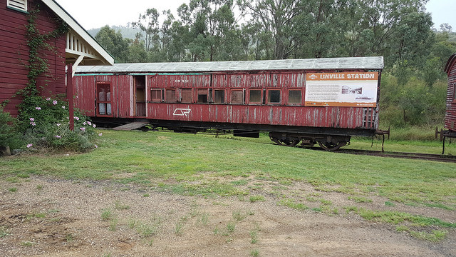 old railway car