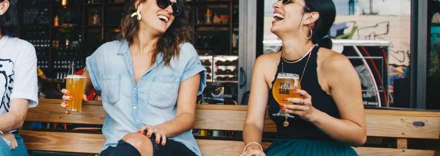 woman friends having a drink