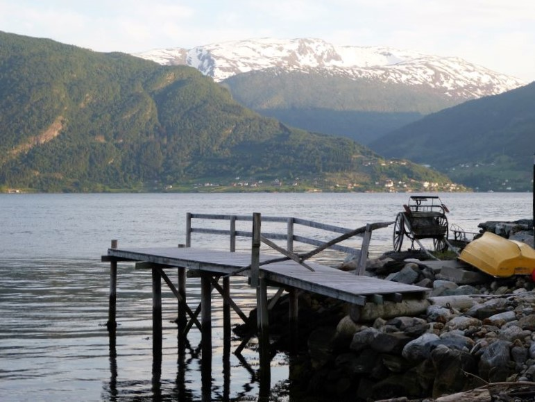 fjord norway with jetty