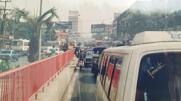 traffic jam Bangkok 1986