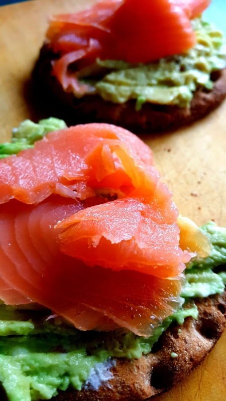 Salmon and Avocado on ryebread